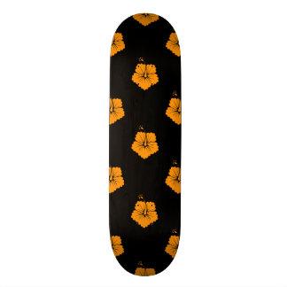 Flower Pattern 3 Orange Skate Decks