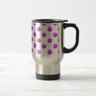 Flower Pattern 3 Purple Coffee Mugs