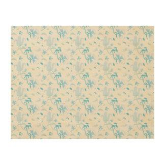 flower pattern 3 wood print