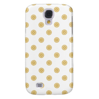 Flower Pattern 4 Misted Yellow Galaxy S4 Case