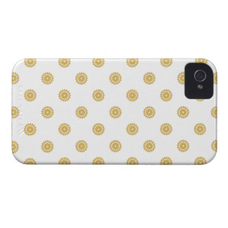 Flower Pattern 4 Misted Yellow iPhone 4 Cases