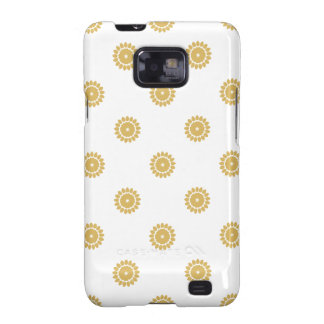 Flower Pattern 4 Misted Yellow Galaxy S2 Case