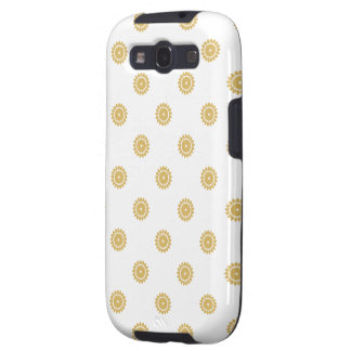Flower Pattern 4 Misted Yellow Galaxy SIII Covers