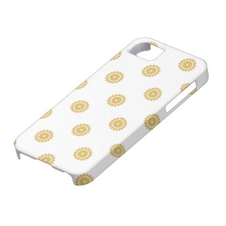 Flower Pattern 4 Misted Yellow iPhone 5 Cases