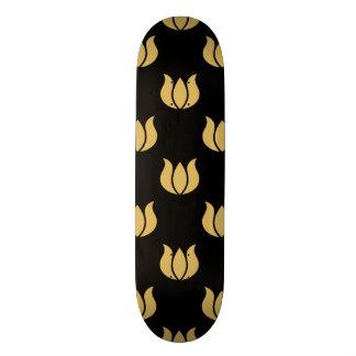 Flower Pattern 5 Misted Yellow Custom Skate Board
