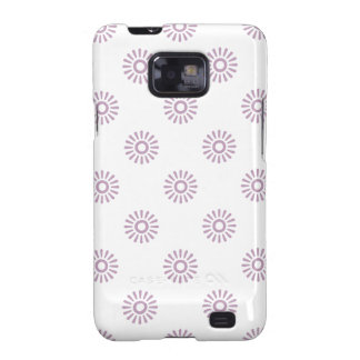 Flower Pattern 6 Mauve Mist Galaxy S2 Covers
