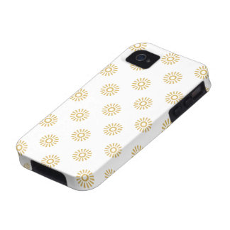 Flower Pattern 6 Misted Yellow Case-Mate iPhone 4 Covers