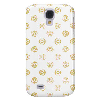 Flower Pattern 6 Misted Yellow Galaxy S4 Case