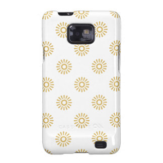 Flower Pattern 6 Misted Yellow Galaxy S2 Cases