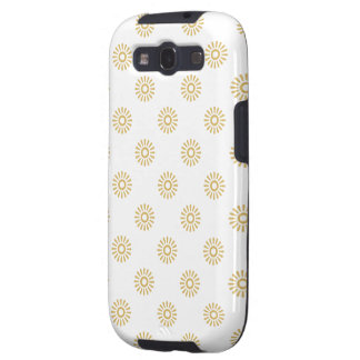Flower Pattern 6 Misted Yellow Galaxy SIII Covers