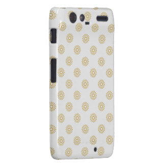 Flower Pattern 6 Misted Yellow Droid RAZR Cases