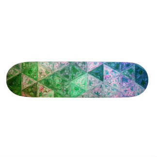 Flower Pattern Blue and Green Skateboard Decks