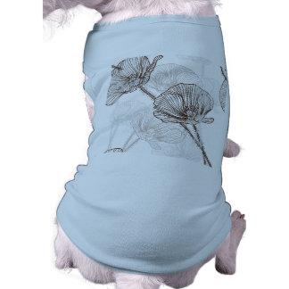 Flower Pattern-Brown/White Sleeveless Dog Shirt