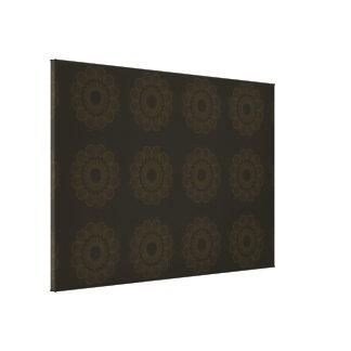 Flower Pattern Browns Gallery Wrap Canvas