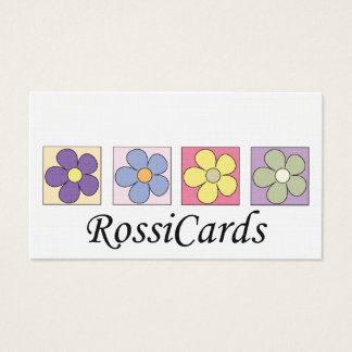 Flower pattern business cards
