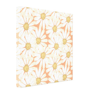 Flower Pattern Stretched Canvas Prints
