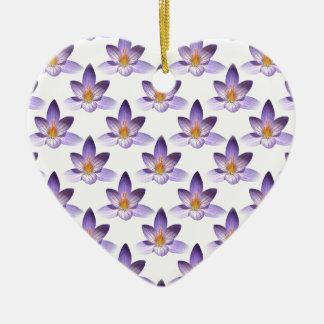 Flower Pattern Ceramic Heart Decoration