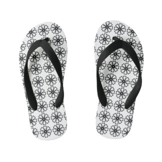 Flower Pattern - Custom Flip Flops, Kids Flip Flops