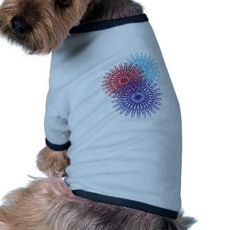 Flower Pattern Doggie Tee Shirt