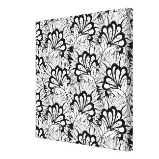 Flower Pattern Doodle 6 Canvas Print