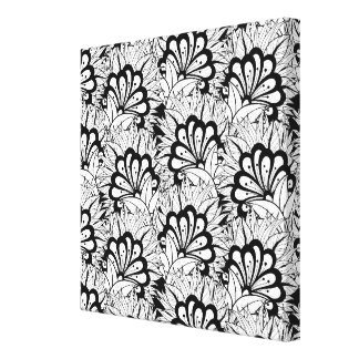 Flower Pattern Doodle 6 Gallery Wrapped Canvas