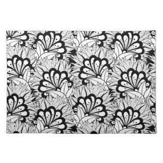Flower Pattern Doodle Placemat