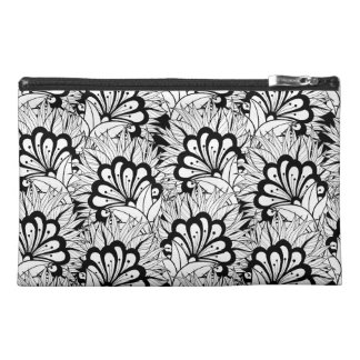 Flower Pattern Doodle Travel Accessory Bag