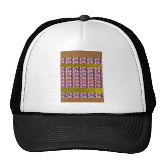 Flower Pattern Elegant Gifts all occasions Purple Mesh Hat