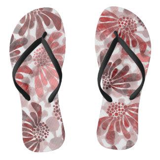 flower pattern. flip flops