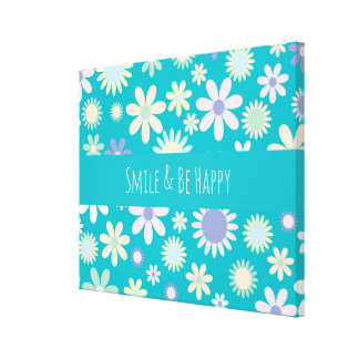 Flower Pattern Gallery Wrapped Canvas