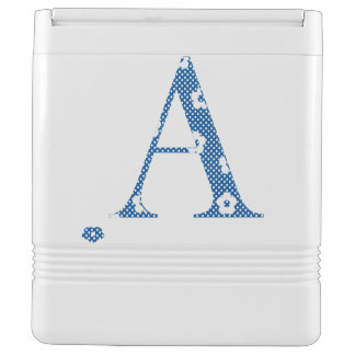 Flower Pattern Letter A (blue) Igloo Cooler