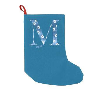 Flower Pattern Letter M(blue)
