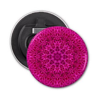 Flower Pattern  Magnetic Round Bottle Opener