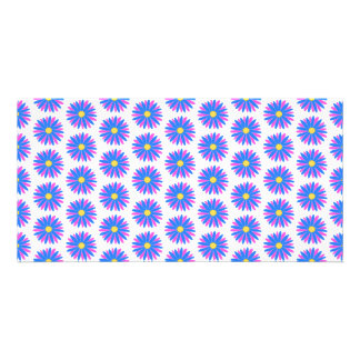Flower Pattern. Photo Greeting Card
