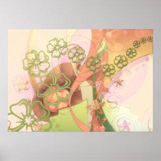 Flower Pattern Posters