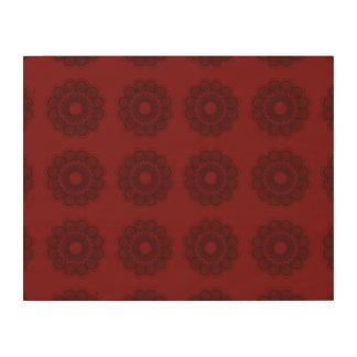 Flower Pattern Reds Wood Prints