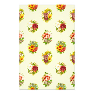 Flower pattern stationery paper