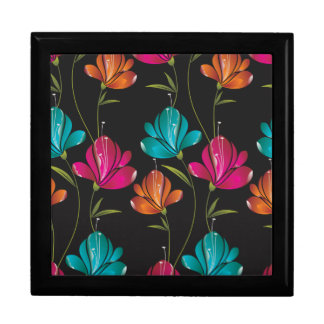 Flower Pattern Two Large Square Gift Box