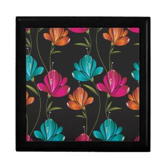 Flower Pattern Two Trinket Box