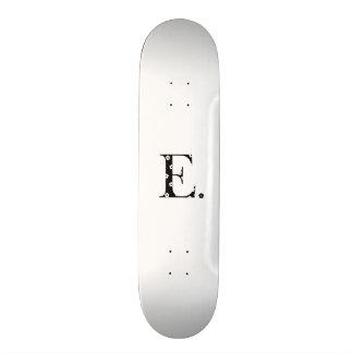 flower Patterned Letter E Skate Boards