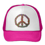 Flower Peace Sign Symbol Cap