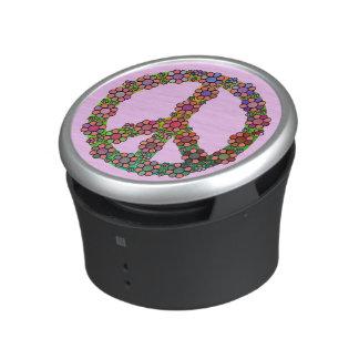 Flower Peace Sign Symbol Floral Bluetooth Speaker