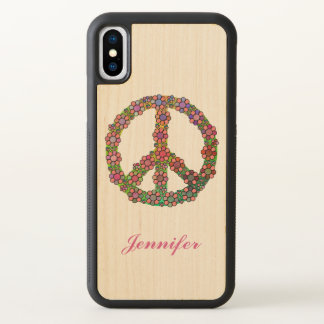 Flower Peace Sign Symbol Personalized iPhone X Case