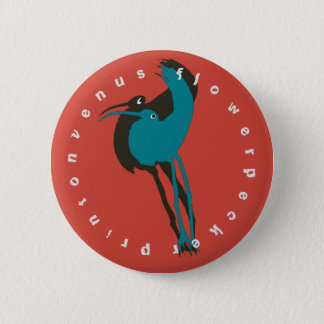 """Flower Pecker"" Custom Round Badge"
