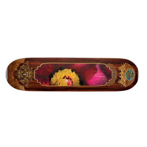Flower - Peony Skateboard