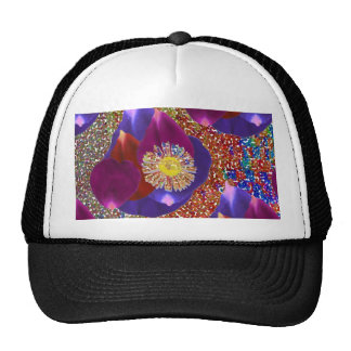 Flower Petal Art n Sparkle Jewel  background Cap