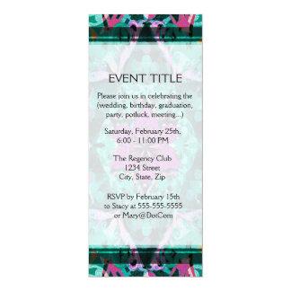 Flower Petal Mandala Design 10 Cm X 24 Cm Invitation Card