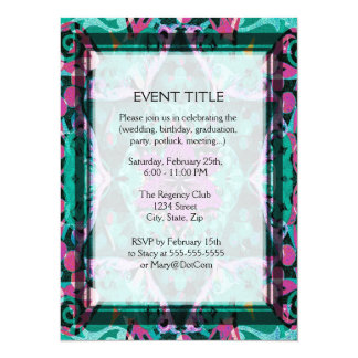 Flower Petal Mandala Design 14 Cm X 19 Cm Invitation Card