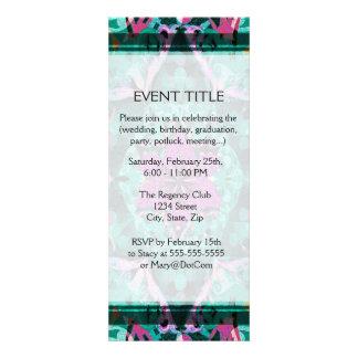 Flower Petal Mandala Design Custom Invitations