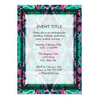 Flower Petal Mandala Design 11 Cm X 16 Cm Invitation Card